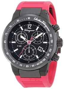 Salvatore Ferragamo Men's F55LCQ6809 SR22 F-80 Ceramic Tachymeter Bezel Sapphire Crystal Pink Rubber Chronograph Date Watch from Salvatore Ferragamo