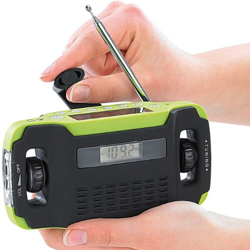 infactory Batteriefreies Solar-Koffer-Radio