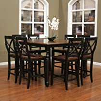 Hot Sale Berkshire Counter Height Dining Table Set w a Butterfly Leaf and 8 Camden Stools