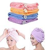 DivineXt Microfiber Hair Wraps Magic Fast Dry Towel Drying Bath Twist Hat Spa Soft Cap