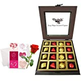 Valentine Chocholik's Luxury Chocolates - Innovative Treat Of Wrapped Chocolates And Truffles With Love Card And...