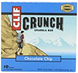 Clif Crunch Granola Bar, Chocolate Chip, 5 Two-Bar Pouches, 7.4oz