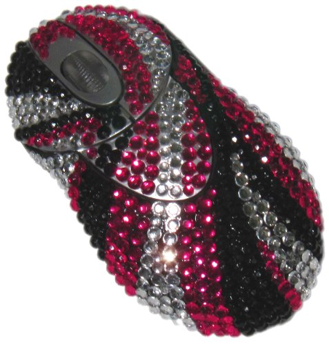 StyleSynch Bling Rhinestone Wireless Computer Mouse in Mod Whorl