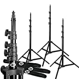 10ft Photo Studio Heavy Duty Light Stands Set of 3 Air...