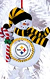 Pittsburgh Steelers Jolly Christmas Snowman Ornament