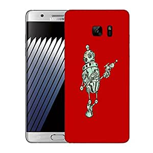 Snoogg Small Robot Designer Protective Back Case Cover For SAMSUNG Galaxy NOTE 7