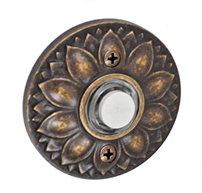 Fusion Hardware BEL-D8-MDB Designer Collection Floral Doorbell, Medium Bronze, 1-Pack