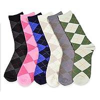 Women's Socks – Ladies Value 6-Pack C…