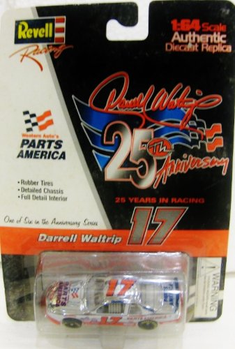 Darrell Waltrip #17 Parts America Chevy Monte Carlo Nascar In Red & White Diecast 1:64 Scale 25 Years In Racing By Revell