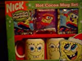 Spongebob Hot Cocoa Mug Set, 2 Mugs and Cocoa Mix Included