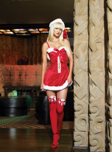 Christmas Santa Clause Mistress Sexy Holiday Party Costume