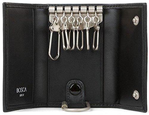 bosca-nappa-vitello-6-hook-keyfree-key-case-black