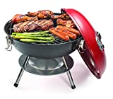 Cuisinart CCG-190RB Portable Charcoal Grill, 14-Inch, Red