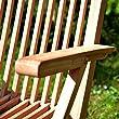 DIVERO-2er-Set-Klappstuhl-Teakstuhl-Gartenstuhl-Teak-Holz-Stuhl-mit-Armlehne-fr-Terrasse-Balkon-Wintergarten-witterungsbestndig-behandelt-massiv-klappbar-natur