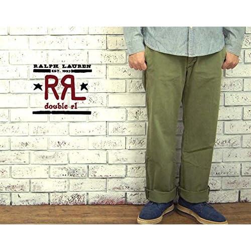 (ラルフローレンダブルアールエル) ralph lauren RRL 後染め トラウザー チノ パンツ W32×L32 [並行輸入品]
