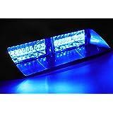 Jackey AwesomeCar 16-led 18 Flashing Mode Emergency Vehicle Dash Warning Strobe Flash Light (Blue)