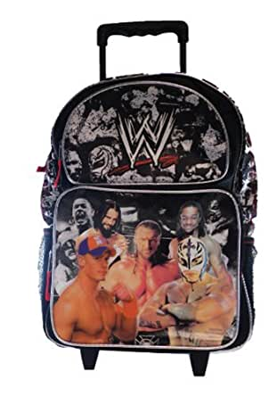 Amazon.com: WWE Large Rolling Backpack: Clothing