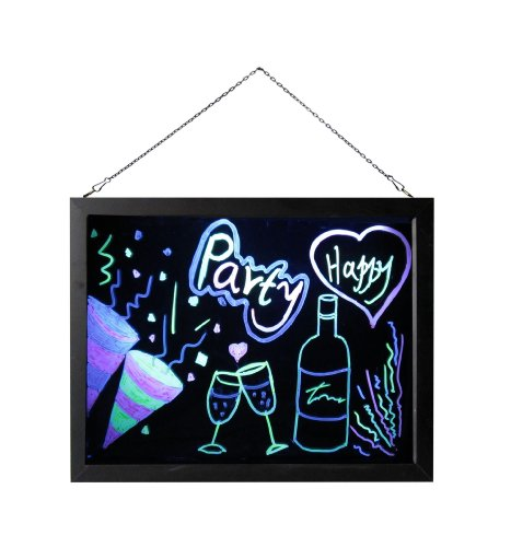 "Neon Board Led Flourescent Signs Led Message Board Chalkboard Neon Sign 12""X10"""