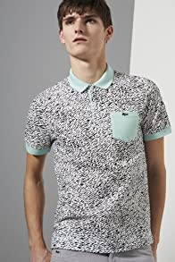 Live Short Sleeve Mini Pique All Over Camouflage Printed Polo Shirt