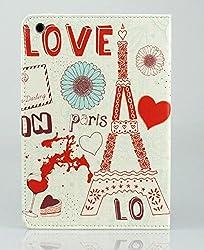 KolorFish iPrint Designer Funky Love Cute Print Leather Flip Case Cover for Apple iPad Mini, iPad Mini 2, iPad Mini 3