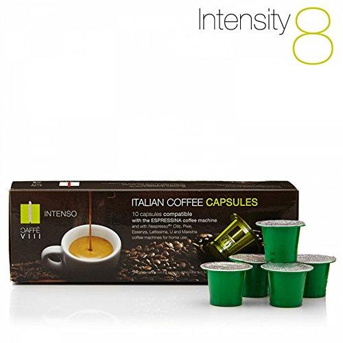 Purchase 160x Caffè Ottavo Nespresso® Compatible Artisan Coffee Pods/capsules - INTENSO (Strong & creamy - Intensity 8) - Caffè Ottavo
