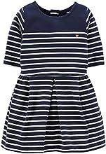 Carter39s Little Girls Striped Jersey Knit Dress 5 Kids  Navy