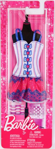 Barbie Trend Outfits - White/Blue/Pink Corset Dress - 1