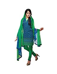 Ali Colours Cotton Embroidered Casual Wear Printed Suits For Women