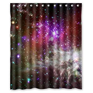 Beautiful Space Galaxy Shower Curtain Awesome Nebula Cosmos Outer Space Galaxy Bathroom Shower