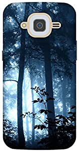 The Racoon Grip jungle magic blue hard plastic printed back case/cover for Samsung Galaxy J2 (2016)