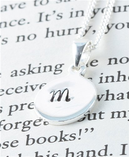 Hand Stamped Sterling Silver Pendant - Initial M