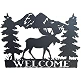 """Wildlife Welcome Sign - Moose - 15"""" w x 10.5"""" h"""