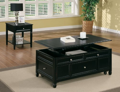 Cheap Aurelia End Table in Black Finish (B003XRBTWK)