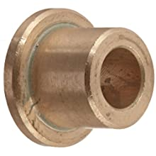 Bunting Bearings CFM006010010 Sleeve (Flanged) Bearings, Cast Bronze C93200 (SAE 660), 06mm Bore x 10mm OD x 10mm Length - 14mm Flange OD x 2mm Flange Thk  (Pack of 5)