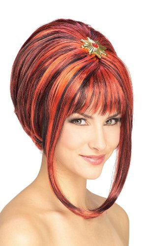 Rubie's Costume Midnight Siren Wig, Black/Red, One Size
