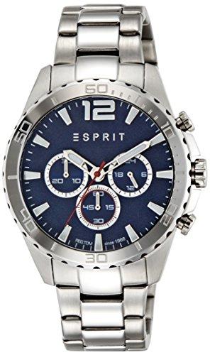 Esprit-Reloj de pulsera para hombre es de Aiden Silver Blue Cronógrafo Cuarzo Acero inoxidable es108351005