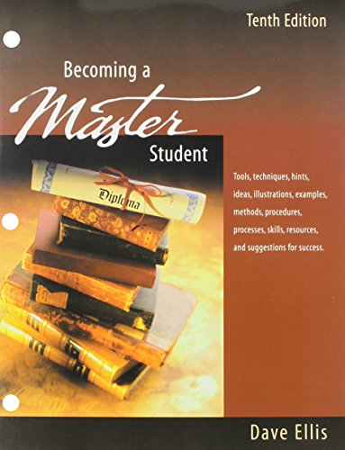 Becoming a Master Student, Loose Leaf Custom Publication