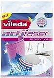 Vileda Actifaser Allzwecktuch 2 Stück - Die neue Generation der Mikrofaser - 1er Pack (1 x 2 Stück)