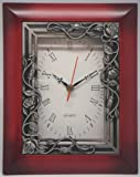 35 Quartz Clock - Maroon - Roses on Trellis