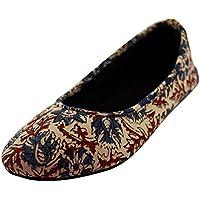 SnugOns Women's Beige Cotton Casual Shoes (9 UK)