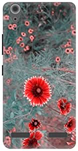 The Racoon Grip hippie daisies dull hard plastic printed back case / cover for Lenovo A6000 Plus