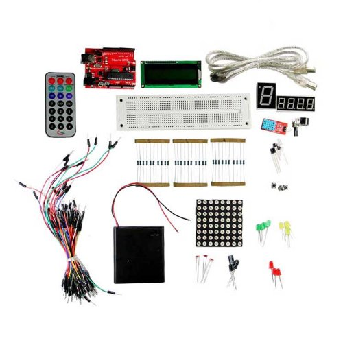 Geeetech Uno R3 Diy Starter Kit(Compatible With Arduino),Lcd1602 Display,Rgb Led,Controller,Infrared Transmitter/Receiver,Sensor,Resistor,Capacitor,Wires...