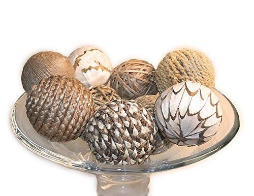 Jodhpuri 9 Piece Decorative Spheres, Natural