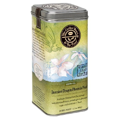 Coffee Bean & Tea Leaf, Tea, Jasmine Dragon Phoenix Pearl, 20-Count Tins (Pack of 2)