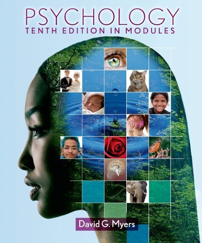 Psychology in Modules by Myers, David G. Published by Worth Publishers 10th (tenth) edition (2012) Hardcover (Psychology Myers Modules compare prices)