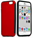 myLife Wine Red {Hybrid Silicone Design} 2 Layer Hybrid Case for the NEW iPhone 6 (6G) 6th Generation Phone by Apple, 4.7