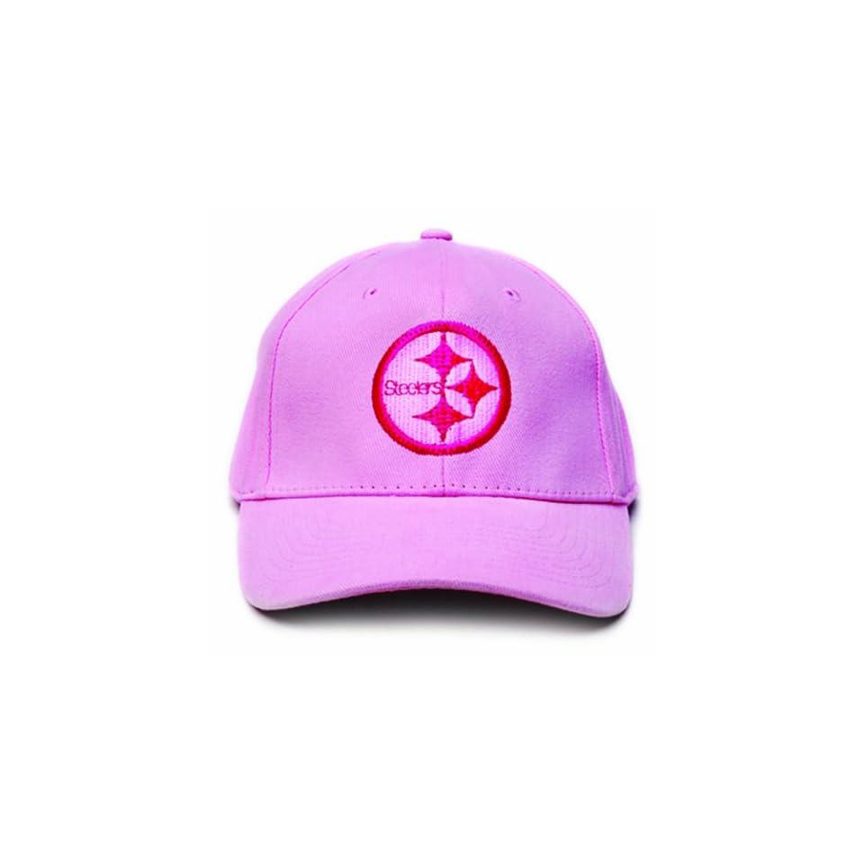 NFL Pittsburgh Steelers LED Light Up Logo Adjustable Hat, Pink
