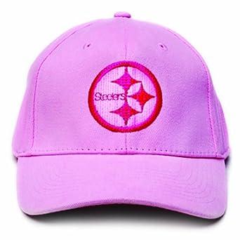 NFL Pittsburgh Steelers LED Light-Up Logo Adjustable Hat, Pink by Lightwear