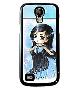PRINTVISA Little Angel Premium Metallic Insert Back Case Cover for Samsung Galaxy S4 Mini - D5861