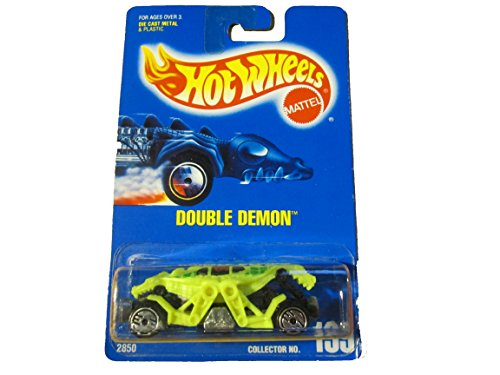 Hot Wheels Yellow Double Demon 199 Blue Card 1991 2850